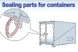 Sealing parts for containers